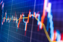 Blue screen of finance data