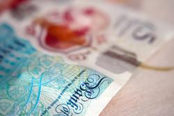 British five pound note